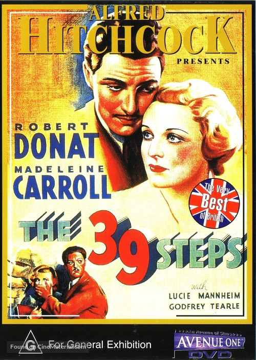 The 39 Steps - Australian DVD movie cover