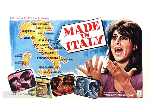 Made in Italy - Belgian Movie Poster
