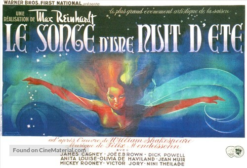 A Midsummer Night's Dream - French Movie Poster