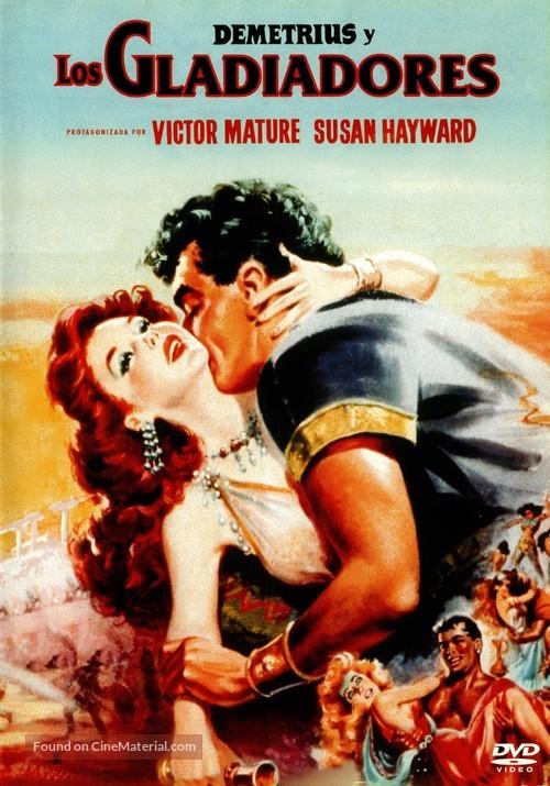 Demetrius and the Gladiators - Spanish DVD movie cover