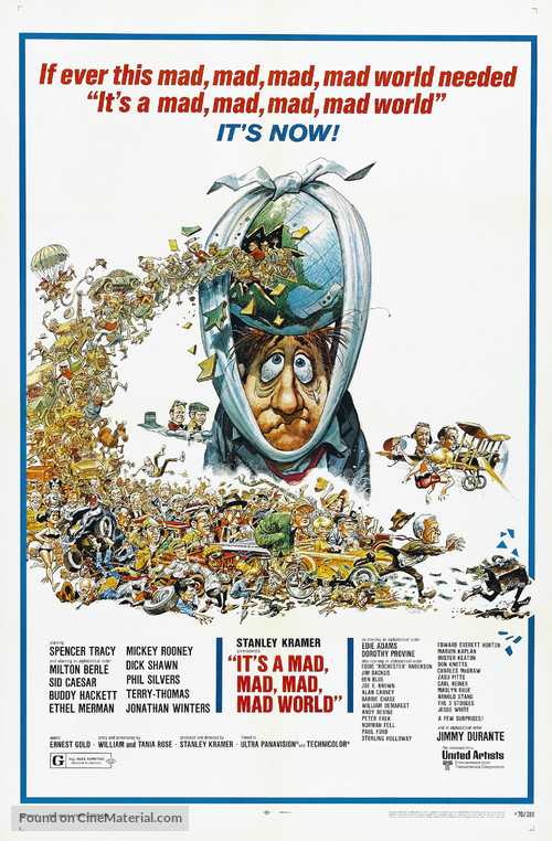 It's a Mad Mad Mad Mad World - Re-release movie poster