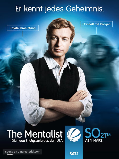 The Mentalist German Movie Poster