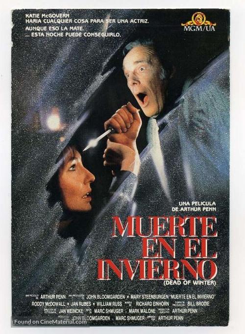 Dead of Winter - Spanish Movie Cover