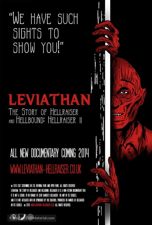 Leviathan: The Story of Hellraiser and Hellbound: Hellraiser II - British Movie Poster