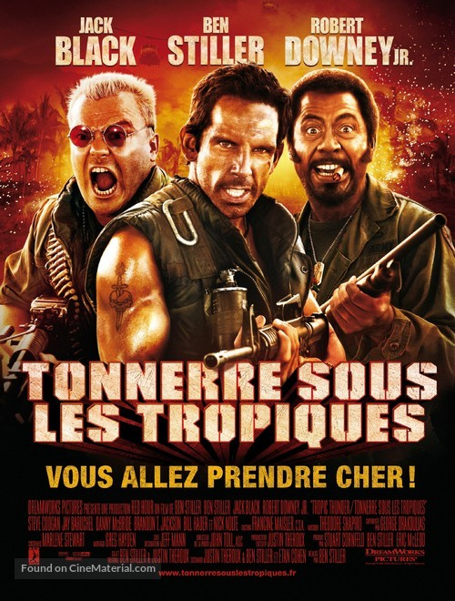Tropic Thunder - French Movie Poster
