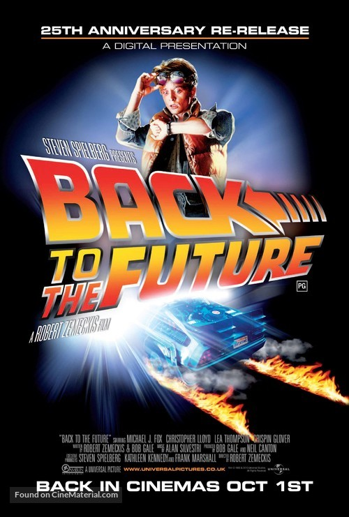 Back to the Future - British Re-release movie poster