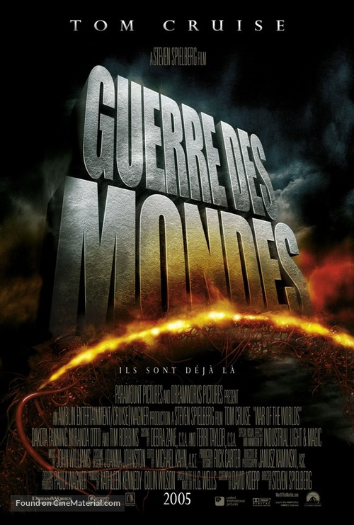 War of the Worlds - French Movie Poster