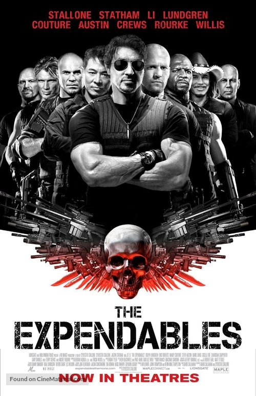 The Expendables - Canadian Movie Poster