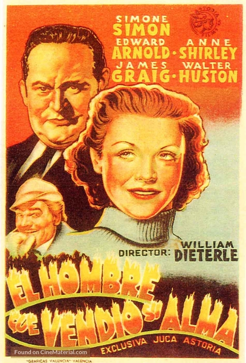 The Devil and Daniel Webster - Spanish Movie Poster