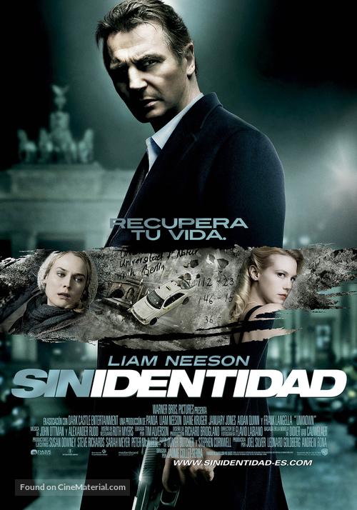 Unknown - Spanish Movie Poster