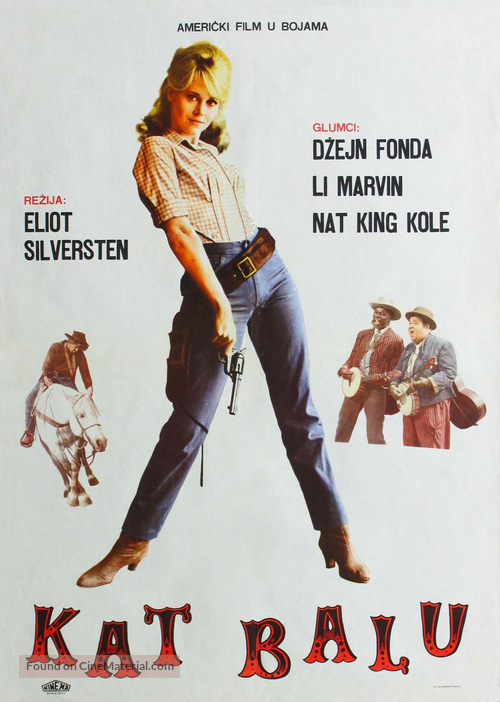cat ballou yugoslav movie poster. Black Bedroom Furniture Sets. Home Design Ideas