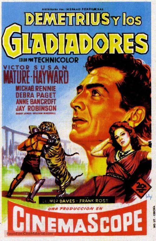 Demetrius and the Gladiators - Spanish Movie Poster