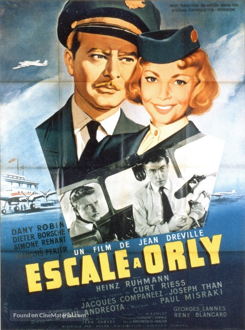 Escale à Orly - French Movie Poster