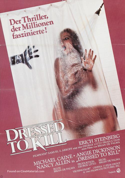 Dressed to Kill - German Movie Poster