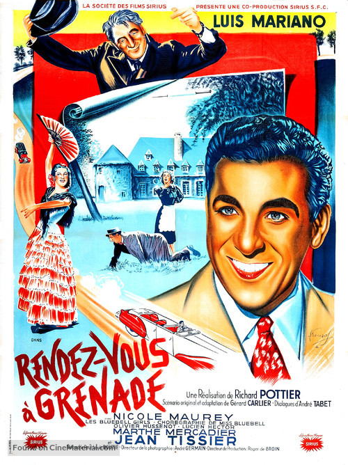 Rendez-vous à Grenade - French Movie Poster