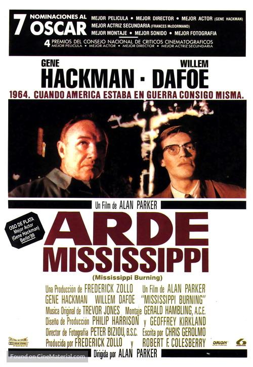 Mississippi Burning - Spanish Movie Poster