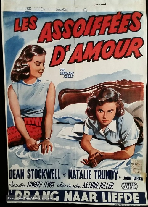 The Careless Years - Belgian Movie Poster