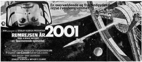 2001: A Space Odyssey - Danish Movie Poster