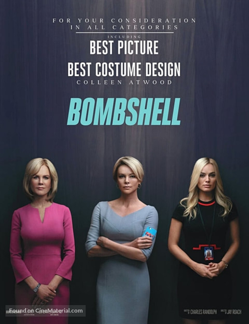 Bombshell - For your consideration movie poster