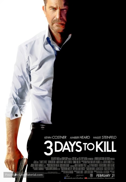 3 Days to Kill - Canadian Movie Poster