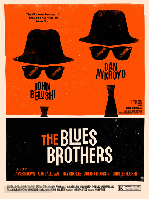 The Blues Brothers - Homage movie poster