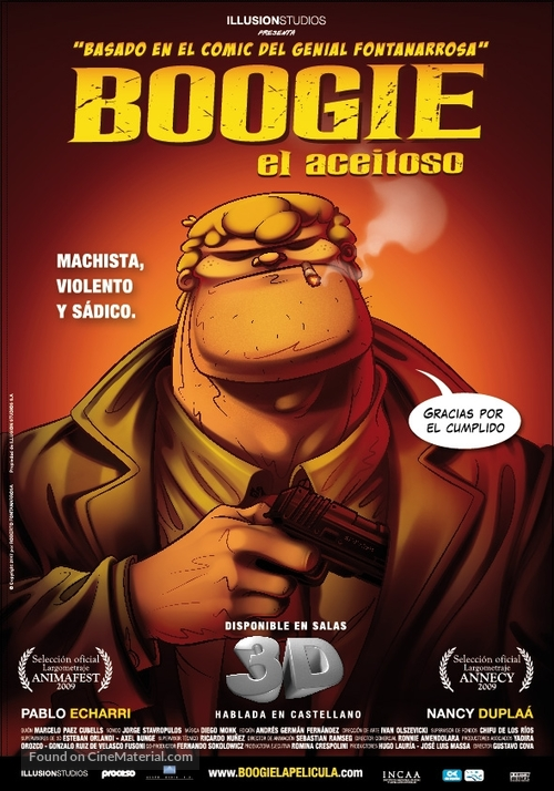 Boogie al aceitoso - Argentinian Movie Poster