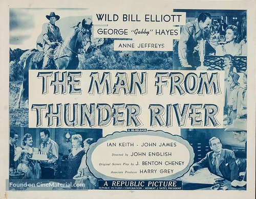 The Man from Thunder River - Movie Poster