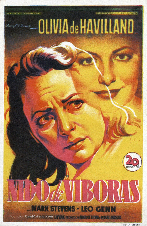 The Snake Pit - Spanish Movie Poster