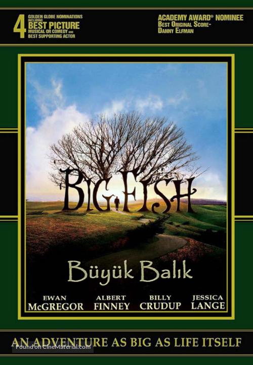 Big Fish - Turkish DVD movie cover