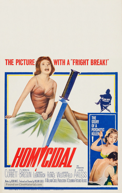Homicidal - Movie Poster