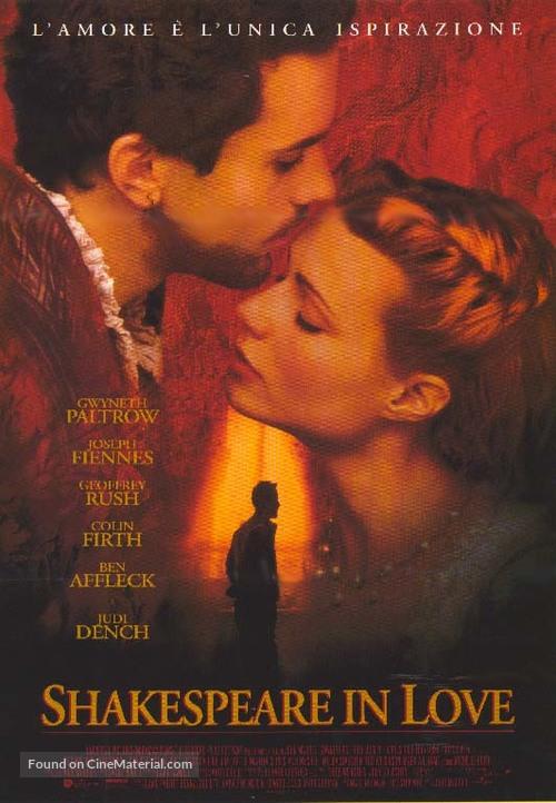 Shakespeare In Love - Italian Movie Poster