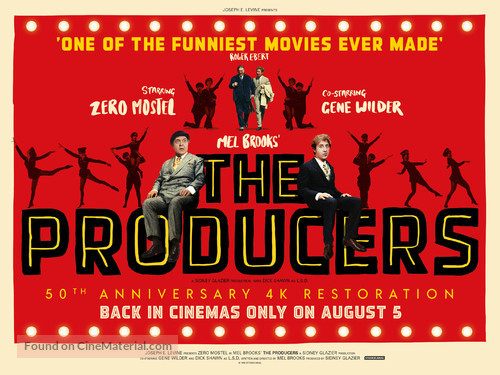 The Producers - British Re-release movie poster