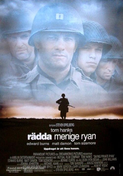 Saving Private Ryan - Swedish Movie Poster