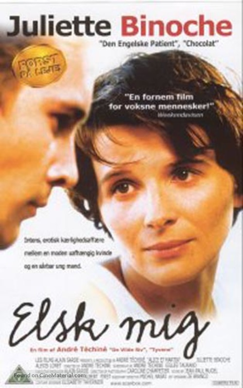 Alice et Martin - Danish DVD movie cover