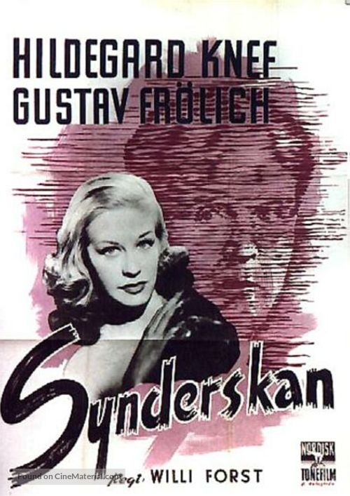 Sünderin, Die - Swedish Movie Poster