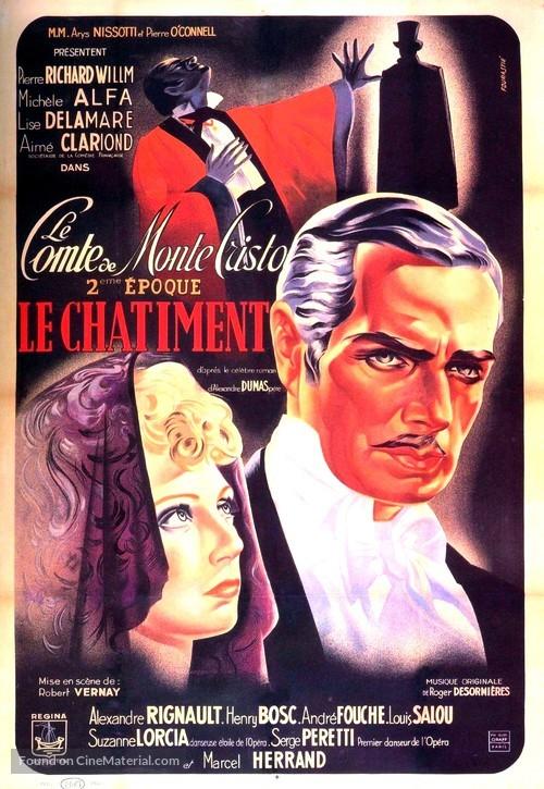 Le comte de Monte Cristo, 2ère époque: Le châtiment - French Movie Poster
