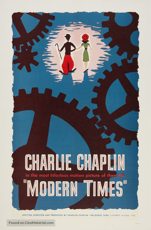 Modern Times - Re-release movie poster