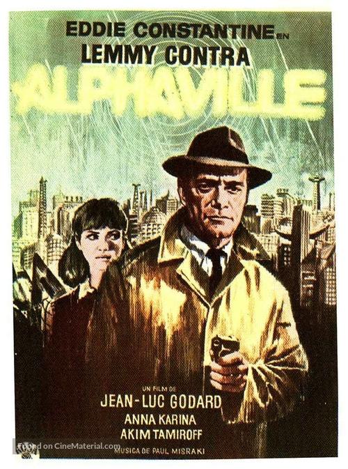 Alphaville, une étrange aventure de Lemmy Caution - Spanish Movie Poster