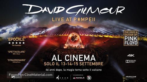 David Gilmour Live at Pompeii - Italian Movie Poster