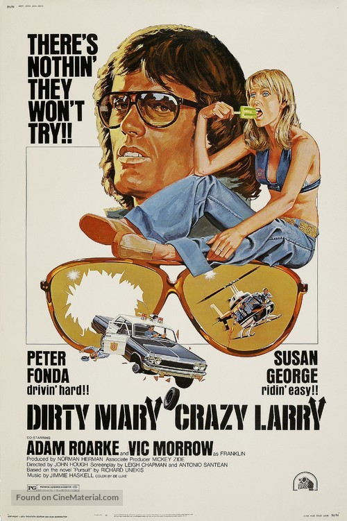 Dirty Mary Crazy Larry - Theatrical movie poster