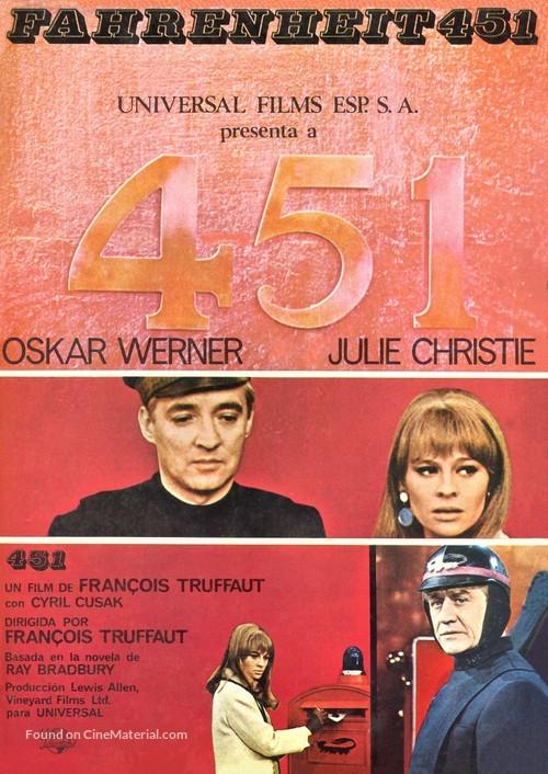 Fahrenheit 451 - Spanish Movie Poster
