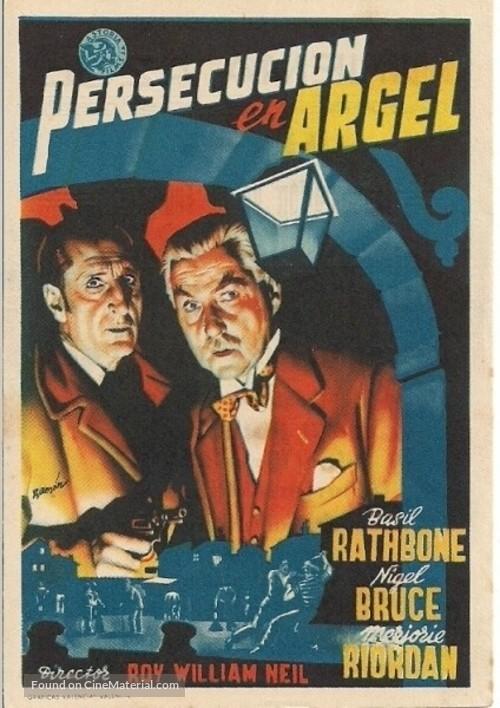 Pursuit to Algiers - Spanish Movie Poster