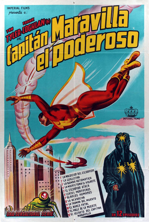 Adventures of Captain Marvel - Argentinian Movie Poster