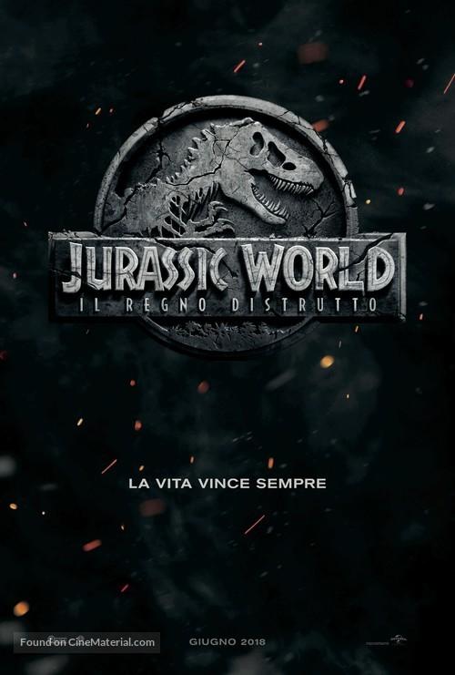 Jurassic World: Fallen Kingdom - Italian Movie Poster