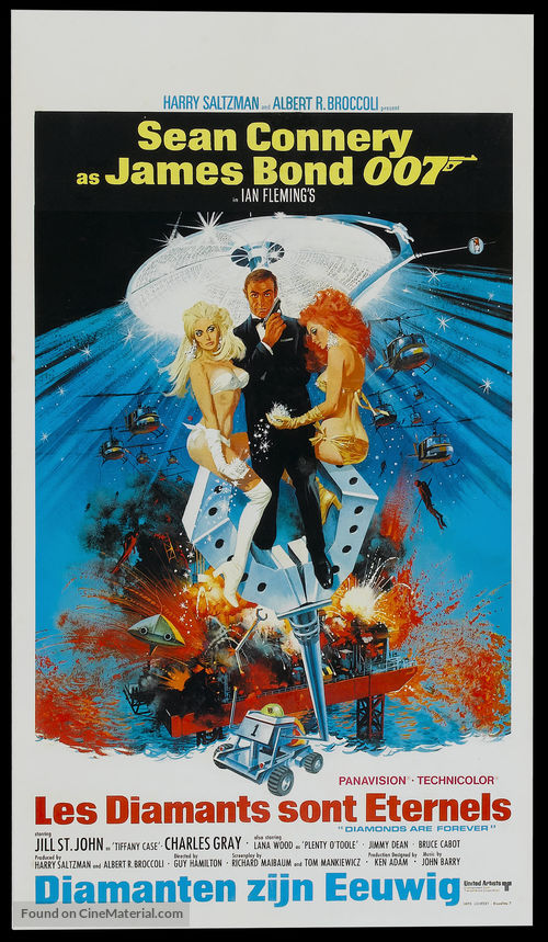 Diamonds Are Forever - Belgian Theatrical movie poster