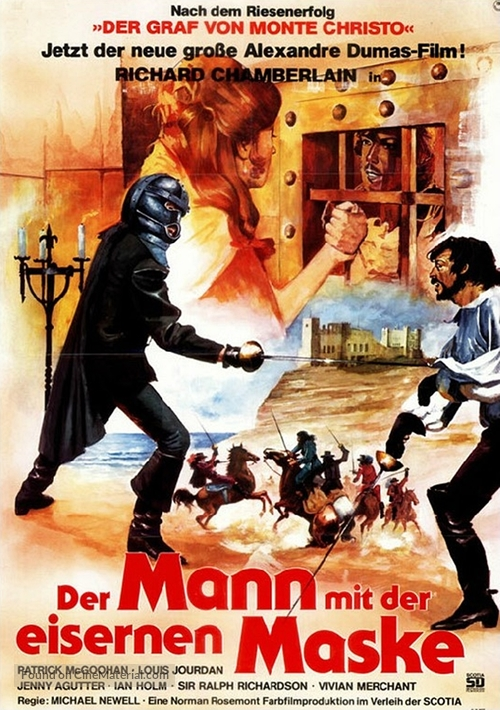 The Man in the Iron Mask - German Movie Poster