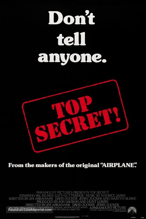 Top Secret - Theatrical poster