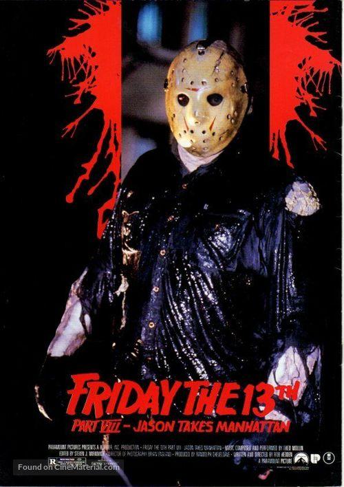 Friday the 13th Part VIII: Jason Takes Manhattan - International Movie Poster
