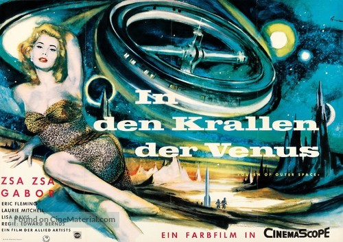 Queen of Outer Space - German Movie Poster