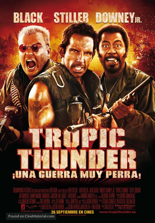 Tropic Thunder - Spanish Movie Poster